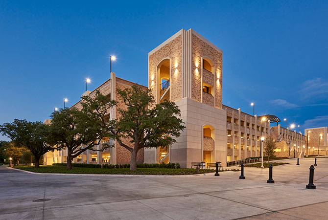 Elegant BHB Provided MEP Design Services For TCUu0027s First Stand Alone Parking Garage.  The Open Parking Garage Is 300,000 SF With 950 Parking Spaces For Students.